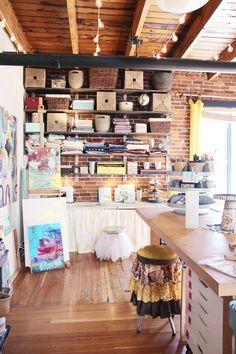 Flora Bowley's inspiring art studio
