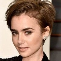 Lily Collins pixie haircut
