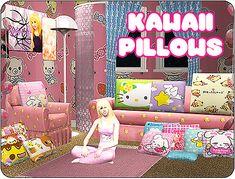 Mod The Sims - Girls' room clutter - pillowskkkkkk