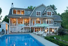 Shingle Home Backyard with Pool. Shingle Home Pool Backyard. Shingle Home Pool Backyard Ideas. #ShingleHomePoolBackyard #ShingleHome #PoolBackyard Pillar Homes.
