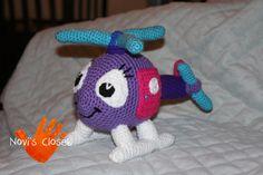 Crochet helicopter plush