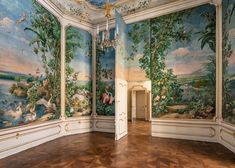 Berglzimmer - one of the apartments in Hofburg palace, painted in 1766 by Johann Wenzel Bergl for Empress Maria Theresia Summertime Sadness, Interior Decorating, Interior Design, Illustrations, Perfect Place, Decoration, Really Cool Stuff, Victorian, Architecture