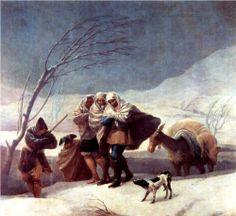 The Snowstorm (Winter) - Francisco Goya