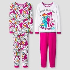 My Little Pony Girls' Pajama Set - White