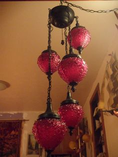The most amazing gypsy swag lamp EVER Gothic Red by biscuitblues, $375.00