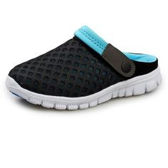 Blue Amphibious Mesh Slippers With Holes