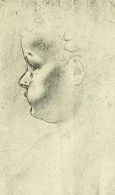 Head of a young child, by Leonardo da Vinci