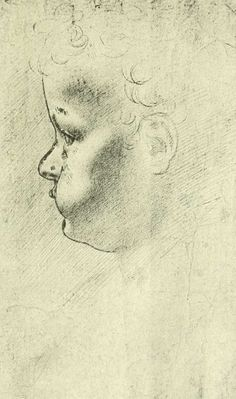 Head of a young child, by Leonardo da Vinci