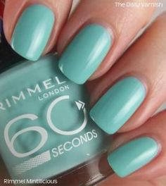 Rimmel Mintilicious... My Mom bought this for me today... The PERFECT aqua!