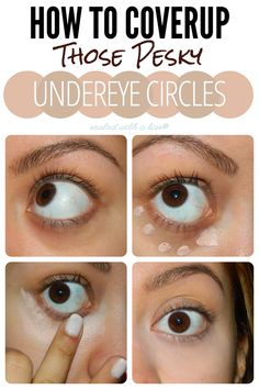 How To Coverup Those Pesky Undereye Circles, Use a shade lighter of concealer for ur complexion. blot under eyes and apply usual face make up! BINGO FRESH EYES & No BAGS!!!