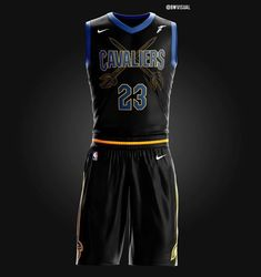 "Cavaliers ""Dark Knight"" uniform concept- rate this Xavier Basketball, Lifetime Basketball Hoop, Basketball Videos, Basketball Rules, Best Basketball Shoes, Basketball Leagues, Basketball Pictures, Basketball Jersey, Basketball Court"