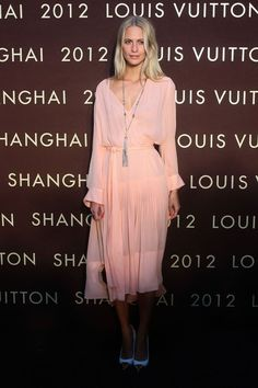 Poppy Delevingne at the Louis Vuitton Shanghai store opening.