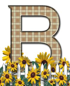 Letra con verja floral.....B