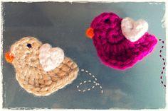 crochet bird pattern :)