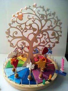 calendario Waldorf Montessori DIY Waldorf Montessori, Maria Montessori, Wooden Calendar, Diy Calendar, Waldorf Crafts, Waldorf Toys, Waldorf Education, Kids Education, Home Crafts