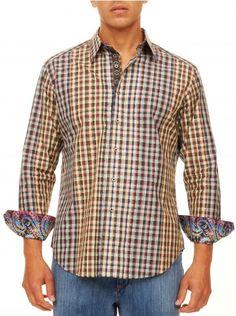 Robert graham big and tall mens clothing egbert sport for Robert graham tall shirts