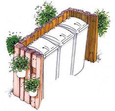 Mülleimer Verkleidung Garten und Co. Backyard Projects, Outdoor Projects, Garden Projects, Outdoor Decor, Back Gardens, Outdoor Gardens, Side Yards, House Front, Garden Planning
