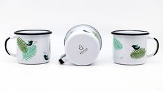 Emalco Enamelware Spring enamel mug 8cm