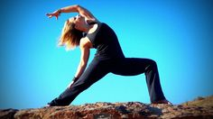 Yoga tutorial Part 14 High-lunge-left Practise and Keep Fit and Healthy