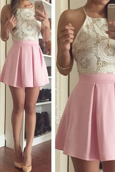 Get the girly look we love with this scuba knit skater skirt! Thick waistband…