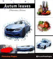 Autum Leaves Photo shop action by GraphixRiver