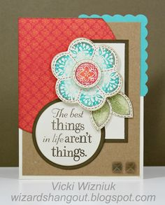 Card using Stella B, Just for You and The Best Things stamps from CTMH.