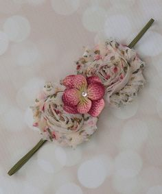 Look at this #zulilyfind! Floral Shabby Hydrangea Headband #zulilyfinds