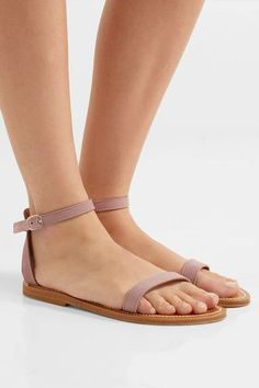 K Jacques St Tropez - Laura Suede Sandals - Antique rose - IT40