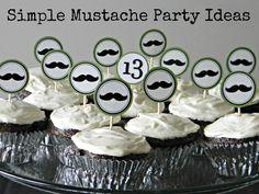 Adornos para cupcakes para la fiesta bigote / Mustache party cupcake decorations