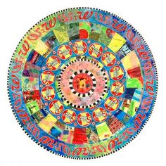 Allah dollar mandala by Virginia Fleck. Can you beleive this is made out of recycled plastic bags? Fused Plastic, Recycled Plastic Bags, Plastic Art, Plastic Bottles, Fused Glass, Recycled Art Projects, Recycling Projects, Recycled Materials, Fractal Art