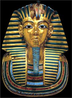 Death mask of Tutankhamun, Valley of the Kings, Egypt, c1323 BC
