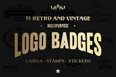 Check out 55 Logo Badges, Labels And Stamps by Marvel on Creative Market