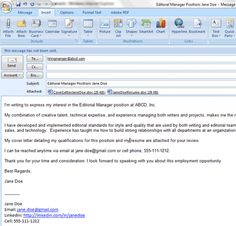 6 easy steps for emailing a resume and cover letter - Cover Letter Email Example