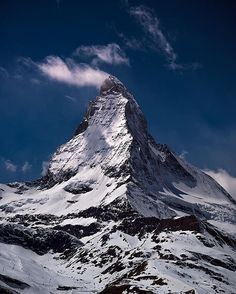 Matterhorn, Zermatt, Switzerland. The Matterhorn, the king of mountains, is the most-photographed mountain in the world. It is myth and emblem for Alpinists and photographers alike, as well as Switzerland's most famous landmark and symbol.