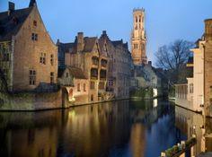 A favourite view of Bruges...just like the painting Peter Etril Snyder gave us for our wedding!