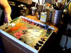 oil painting palettes and what is the best color palette (OilPaintingWorkshop.com) - YouTube