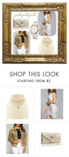 """gold autumn winter"" by beanpod ❤ liked on Polyvore"