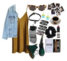 """""""1990's"""" by shopgirl01 ❤ liked on Polyvore featuring Vionnet, Dr. Martens, American Apparel, Levi's, Topshop, Nasty Gal and Clips"""