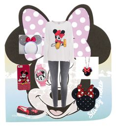 """Minnie Mouse"" by gurveenpanesar ❤ liked on Polyvore featuring Topshop, Loungefly, Disney, Torrid and J Brand"