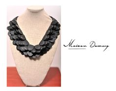 Collar/Necklace LIRA TRIPLE #shine #style #fashion #collection #leather #maisondomecq #woman