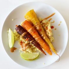 Curry Roasted Carrots with Peanut Sauce Recipe on Yummly