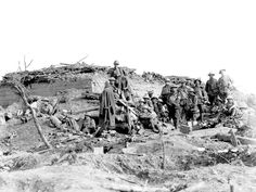 German blockhouse or pillbox captured by Australian soldiers at the Battle of Polygon Wood on 26 September 1917. [AWM E00904]
