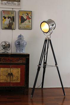 Search Light - Tripod Floor Lamp | Fat Shack Vintage