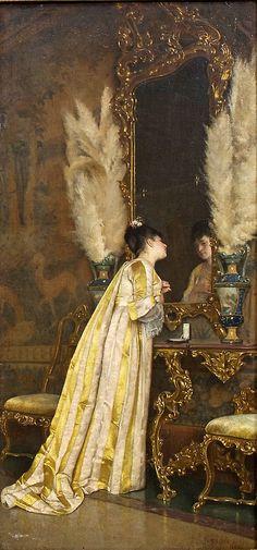 Coquetry, 1865 by Achille Glisenti (Italian, 1848-1906)