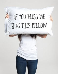 Long distance relationship Gift Pillow Boyfriend Love Friendship Friend I miss you gifts If you miss me hug this pillow ldr Missing gifts If you miss me hug this pillow (1 piece) Let into your home a little pillow that will remember you about your friend, boyfriend or girlfriend! That is some special long distance relationship or friendship gift, dont say that you miss your love, just hug the pillow and smile with that! :) All pillowcases made with love and are 100% handmade. This hand…