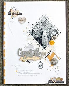 #papercraft #scrapbook #layout. *carpe diem* by JanineLanger at @studio_calico