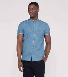 Jeanshemd in der Farbe jeans-hellblau bei C&A