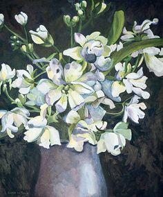 Title: Day and Night Medium: Oil paint on stretched canvas Size: x Stretched Canvas, Canvas Size, Still Life, Van, Night, Medium, Artist, Plants, Painting