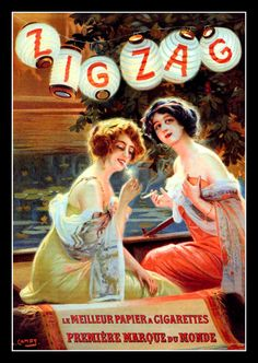 Vintage Zig Zag Cigarette Papers 1910s Ad by RosiesVintageArt