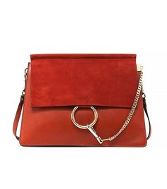 Chloé Faye Medium Shoulder Bag in Red